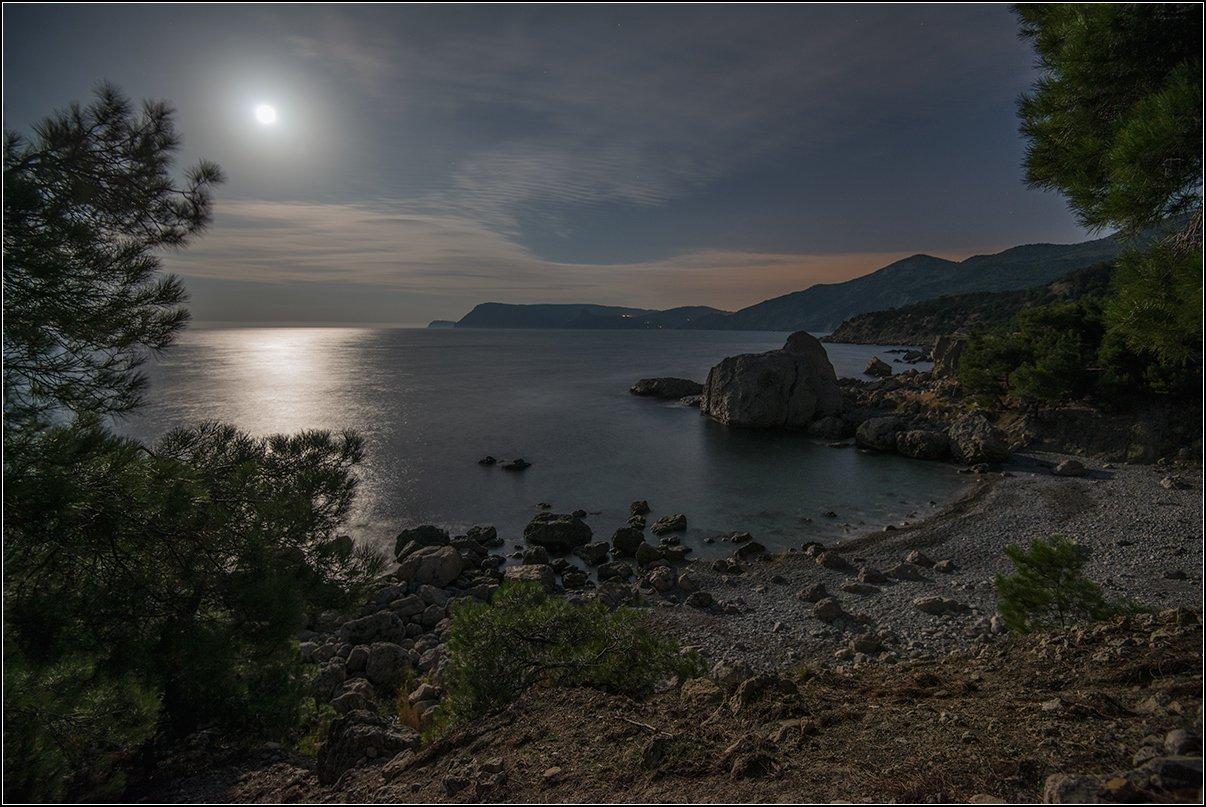 крым, море, луна, Анатолий Довыденко