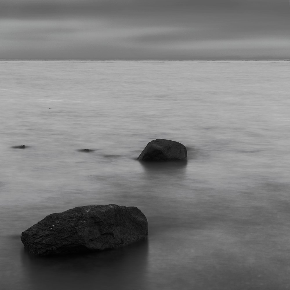 black and white, grey, sky, water, Камилла Камилла
