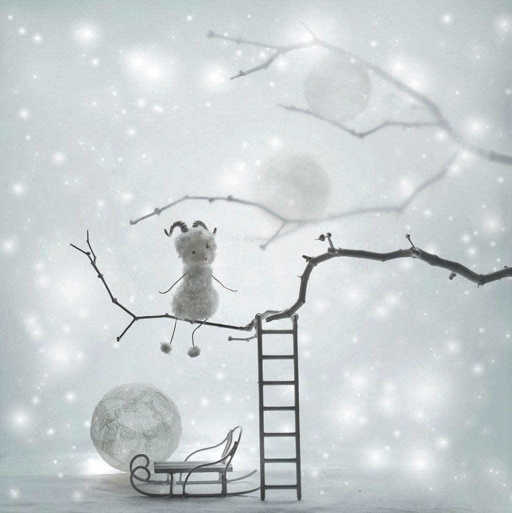 Год Овцы, Настроение, Натюрморт, Новый год, Вероника Бабенко