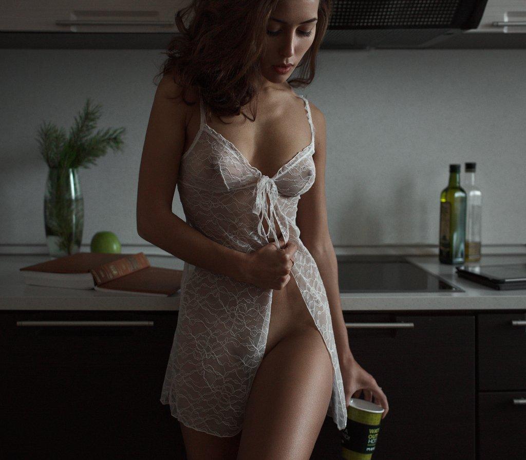 At home, Coffee, Girl, Kitchen, Morning, New year, Роман Филиппов