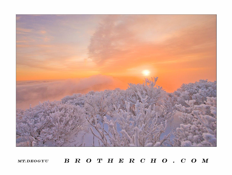 CLOUDSEA, HOARFROST, MT.DEOGYU, SUNRISE, WINTER, CHO HYUNG JAE