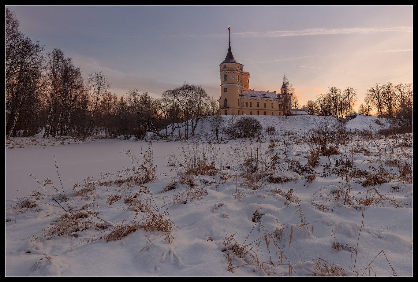 павловск, бип, россия, зима, закат, , Илья Штром