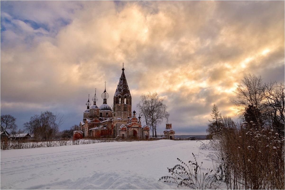 зима, россия, руины, храм, церковь, Ольга Максимова