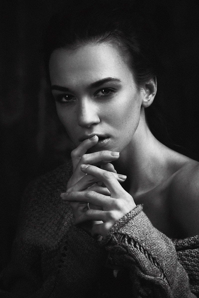 Beautiful, Beauty, Black & white, Bw, Emotion, Face, Girl, Light, Model, Moscow, Nikon, Portrait, Studio, Андрей Лободин