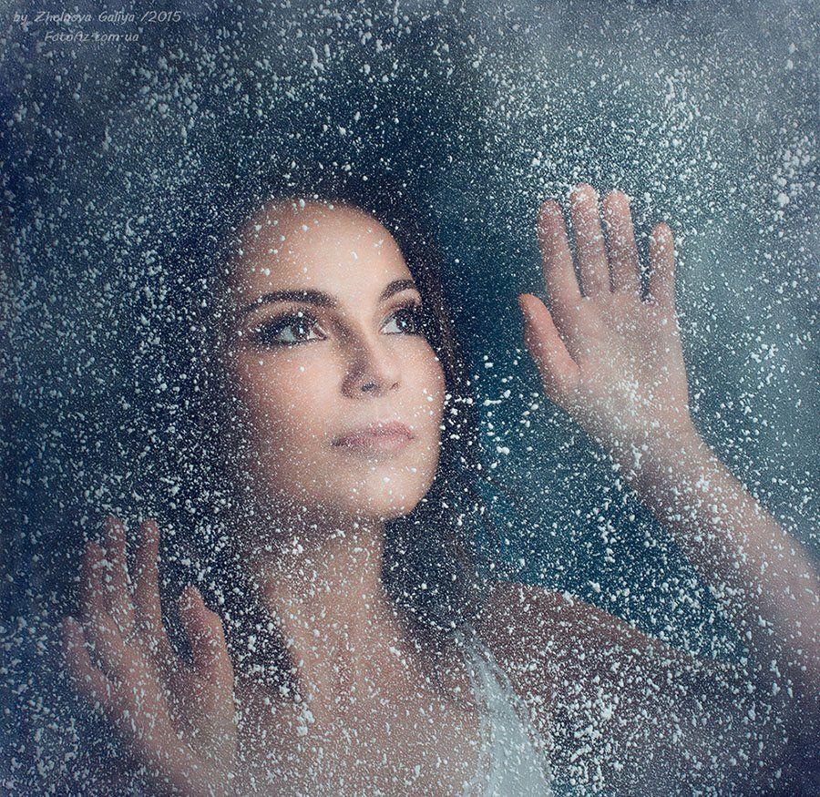 Девушка, Окно, Снег, Желнова Галия