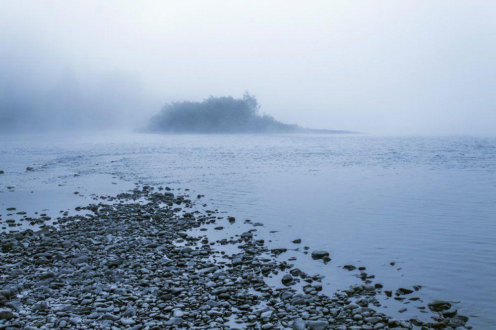 пейзаж, туман, Курочкина Диана