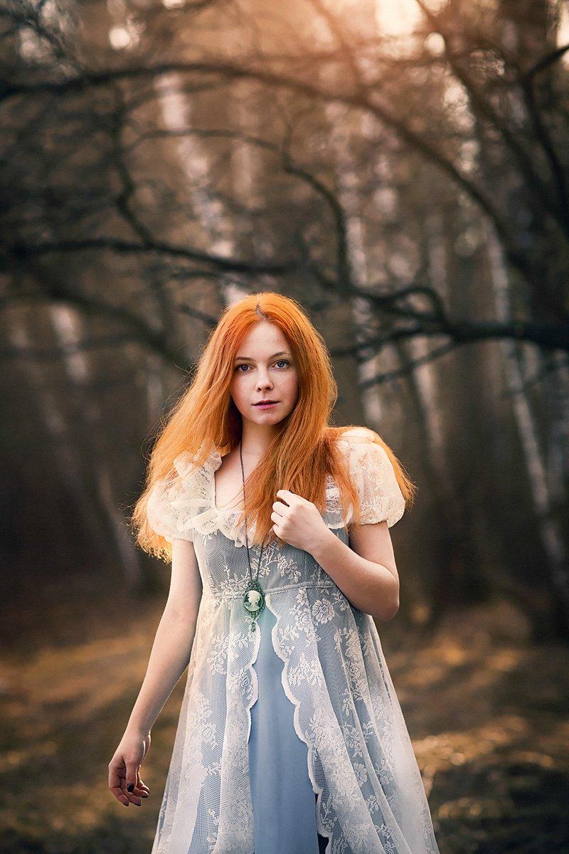 Весна, Веснушки, Лес, Портрет, Рыжая, Свет, Сказка, Солнце, Александра Савенкова