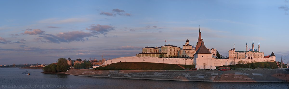 казань, речка казанка, кремль, закат, 2009, триптих, Kaiser Sozo