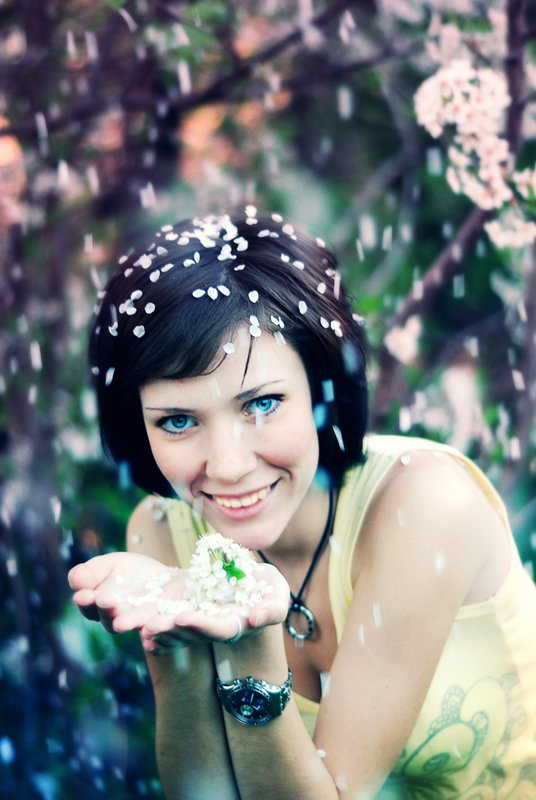 девушка,цвет,вишни, Розенкова Светлана