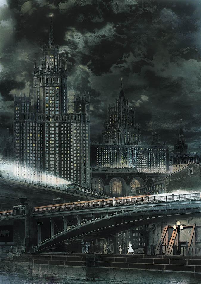 метро, мост, набережная, высотка, Boji
