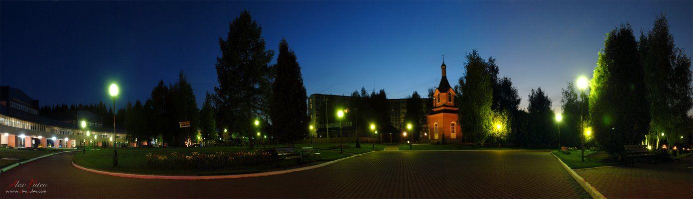 панорама,ночь,подмоскове, Александр Путев