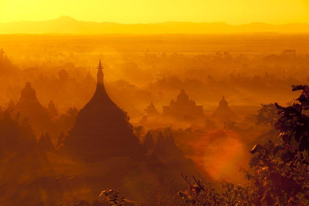 Asia, Land, Landscape, Sun, Sunrise, Sunset, Temple, Tomek Jungowski