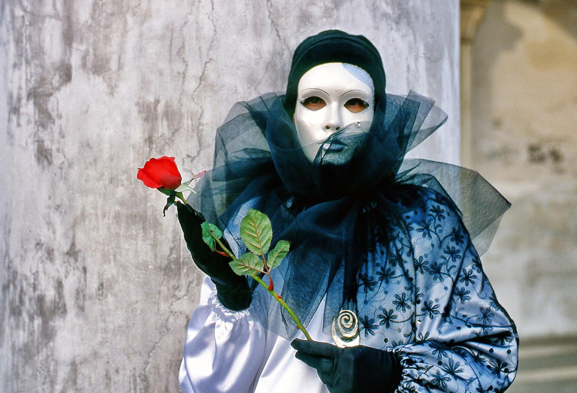 Maschera,rosa,velo,bianco,ritratto,rosso, paologr63