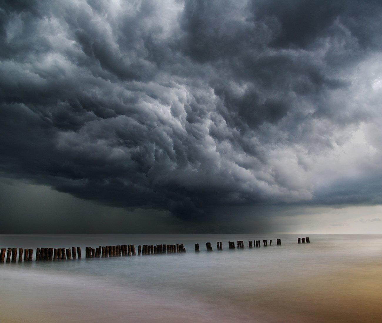 storm, clouds, Linhuania, sea, Mindaugas Žarys