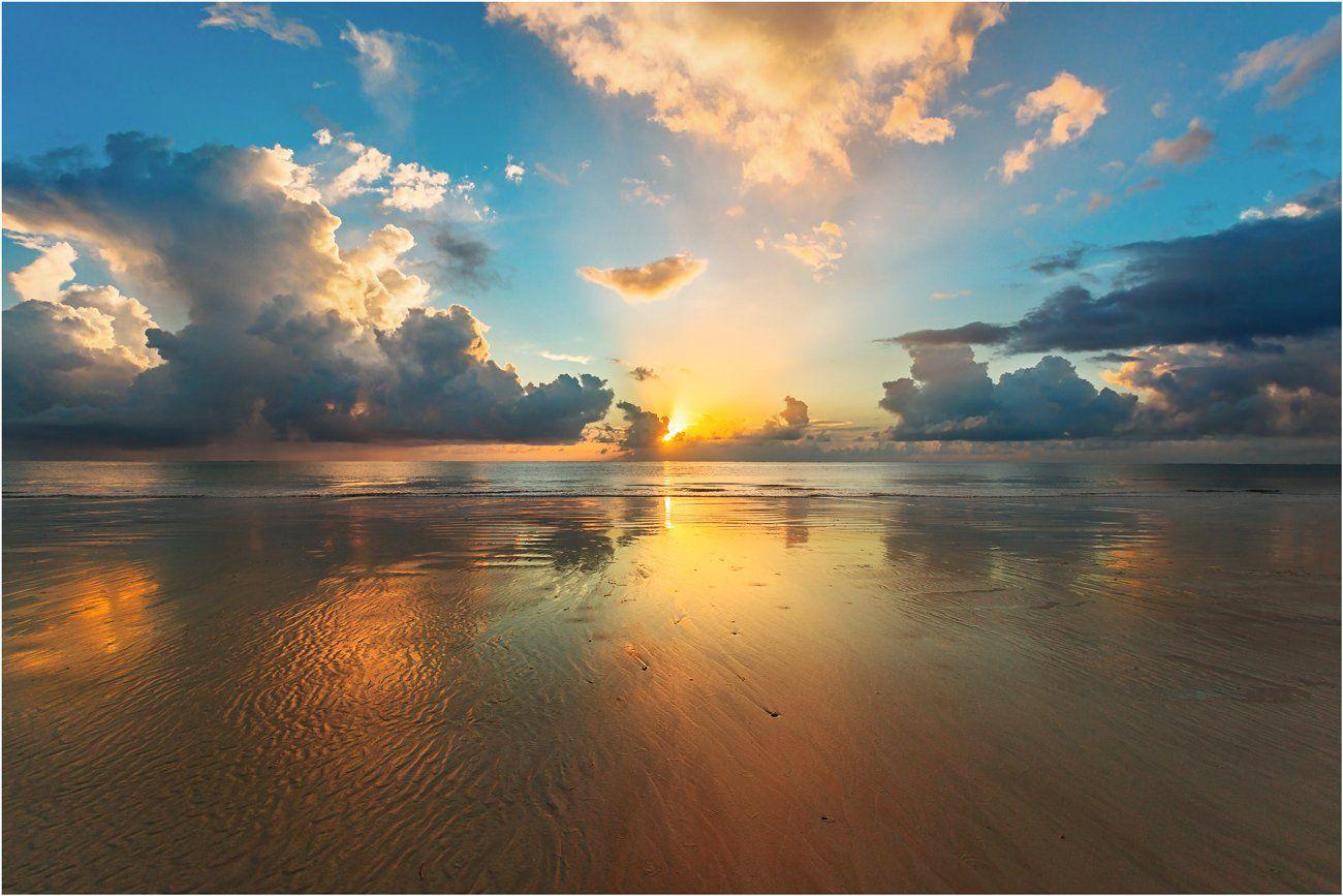 Берег, Индийский океан, Кения, Море, Океан, Песок, Пляж, Рассвет, Михаил Туркеев
