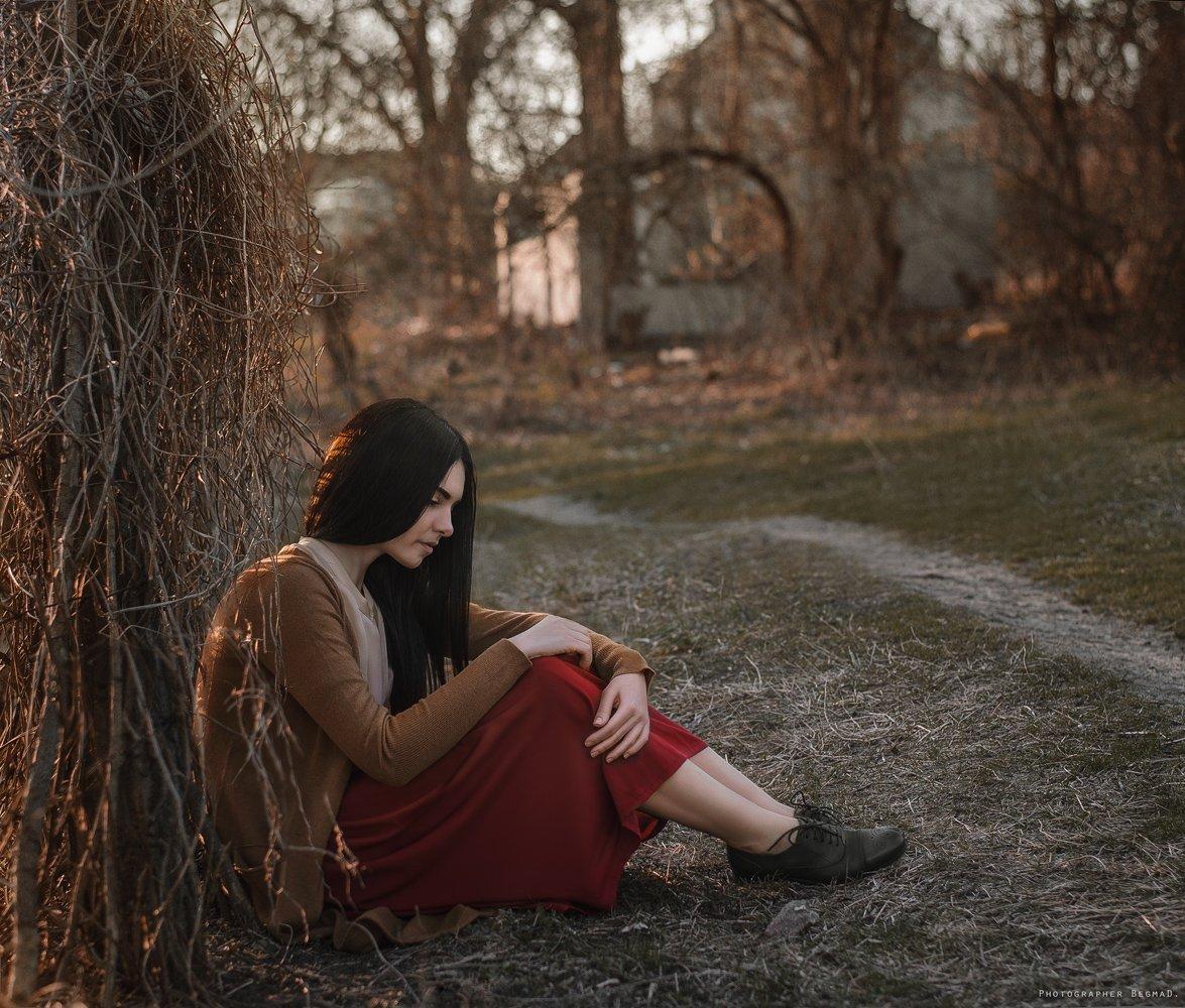 50mm, Nikon, Photoshop, Девушка, Закат солнца, Красивая, Портрет, Фото, Фотография, Дмитрий Бегма