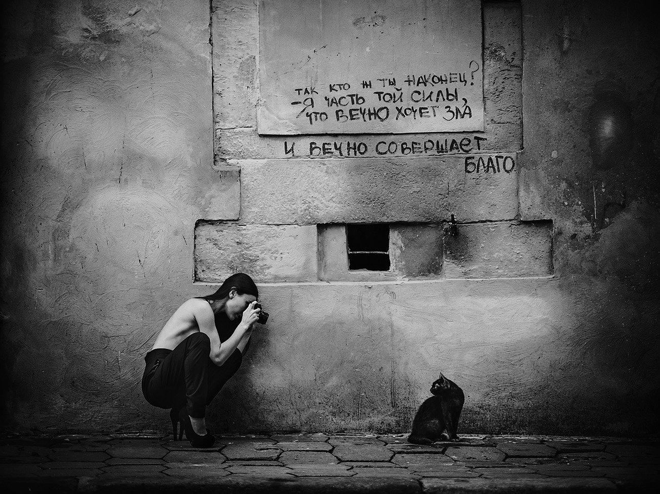 Жанр, Портрет, Старый город, Стрит фото, Фотограф.аркадий курта, Чёрные кошки, Юмор, Аркадий Курта