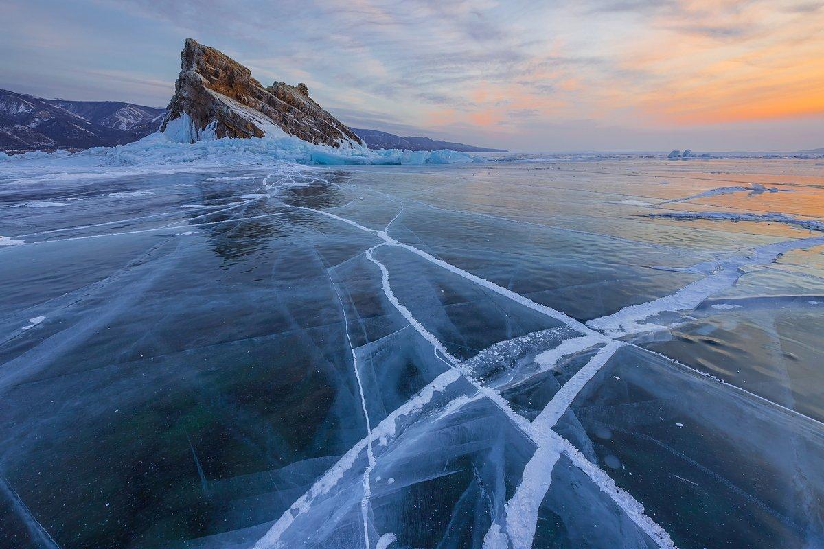 байкал, ольхон, малое море, лед, торосы, еленка, baikal, Кирилл Уютнов