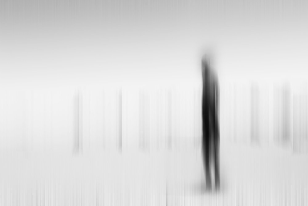 lost, ghost, man, shadow, light, high key, fine art, minimal, black and white,, milad safabakhsh