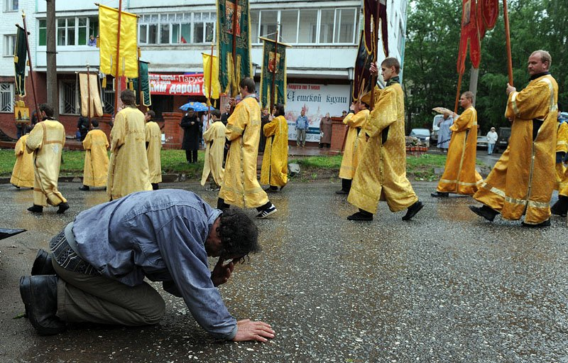 великорецкий крестный ход 2009, паломники, православие, киров, вятка, Астапкович Владимир