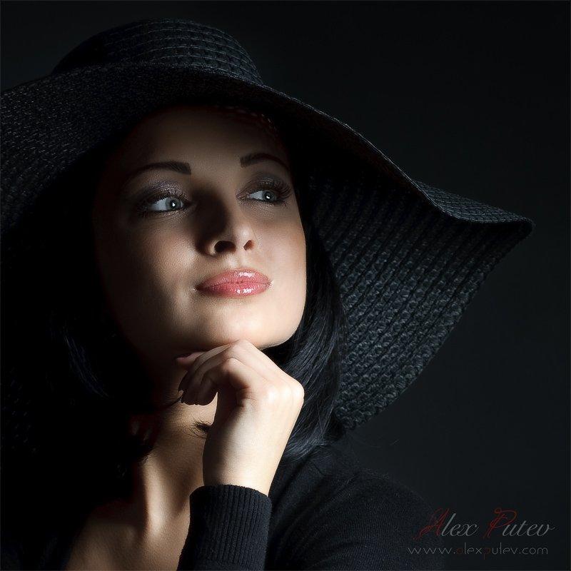просто,портрет,девушка,студия, Александр Путев