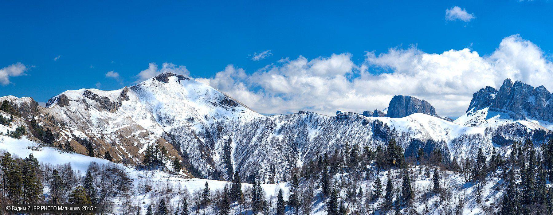 пейзаж, горы, адыгея, тхач, панорама, zubrphoto, Вадим ZUBR Малышев