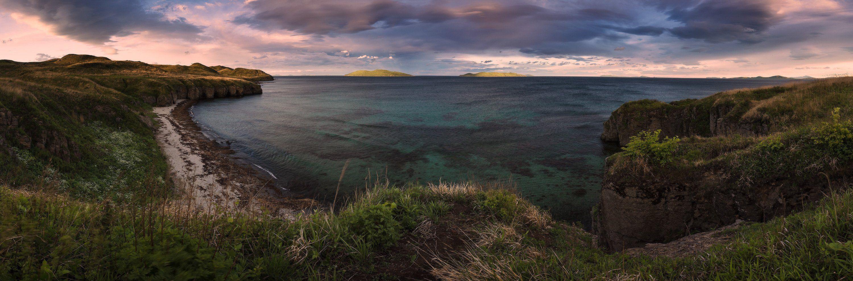 Вечер, Море, Панорама, Андрей Кровлин