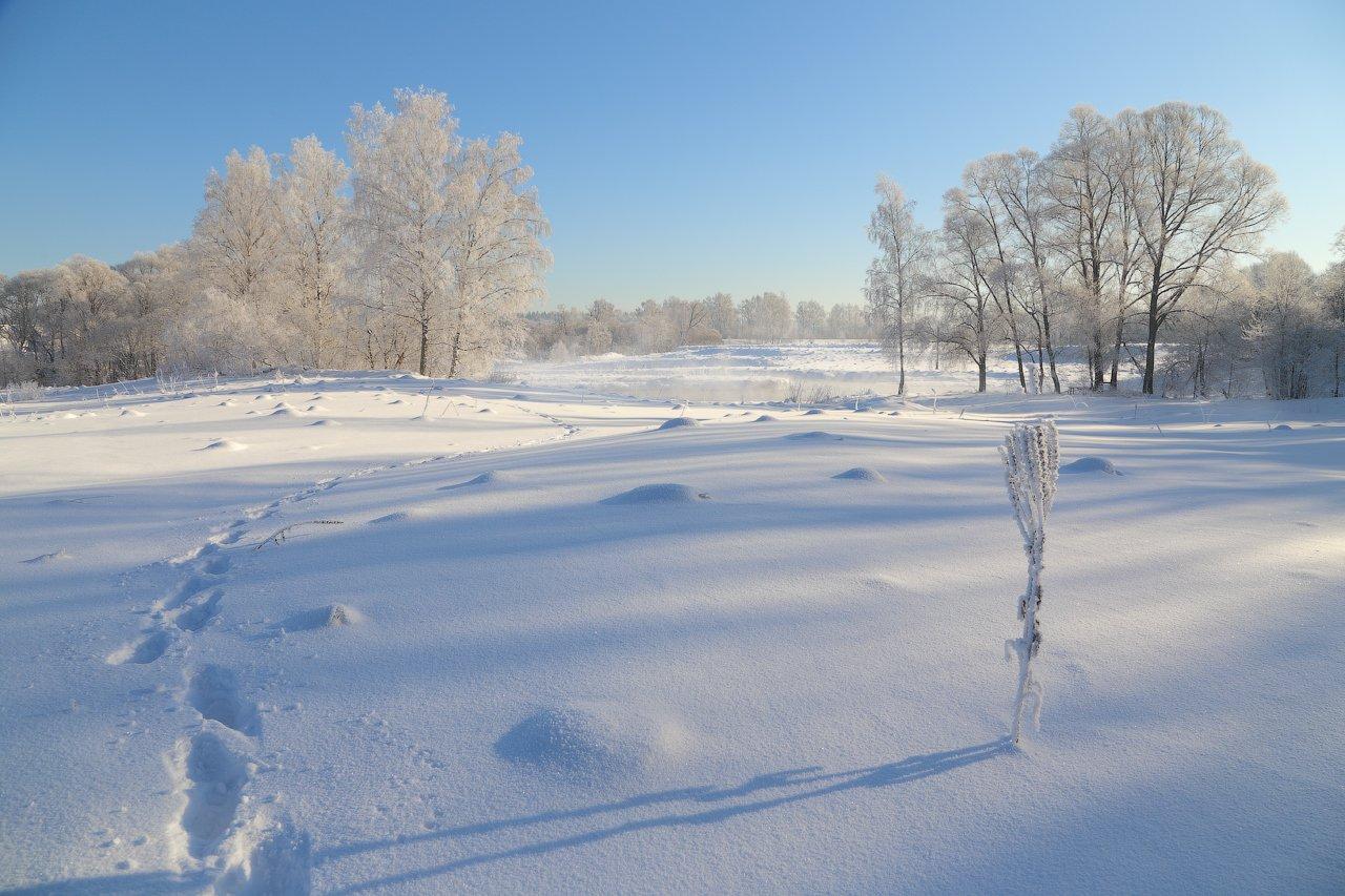 зима, снег, солнце, тени, Виктор Климкин