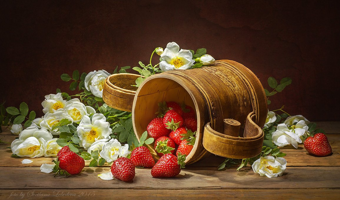 С ароматом цветущего шиповника и клубникой Лебедева Светлана