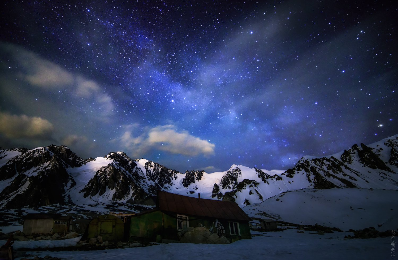 казахстан, алматы, горы, ночь, млечный путь, Vitaliy Rage