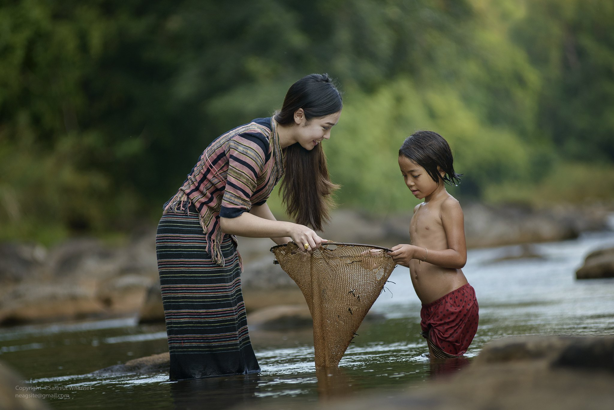 Asia, Asian, Loas, River, Thai, Thailand, Saravut Whanset