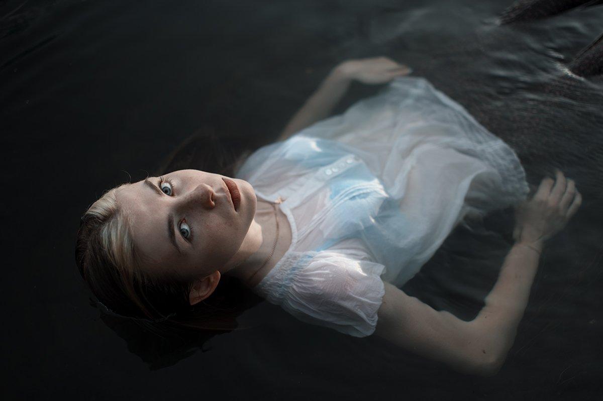 50mm, Portrait, Вода, Девушка, Портрет, Портрет девушки, Келина Ирина