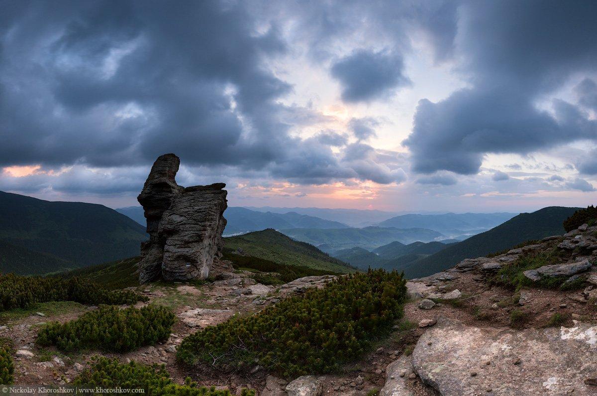 Carpathian mountains, Landscape, Mountains, Ukraine, Горы, Карпаты, Панорама, Пейзаж, Украина, Николай Хорошков
