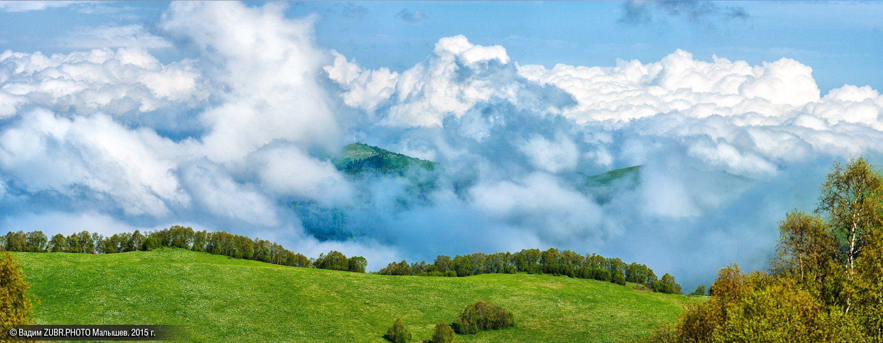 панорама, пейзаж, горы, заповедник, лето, облака, zubrphoto, Вадим ZUBR Малышев