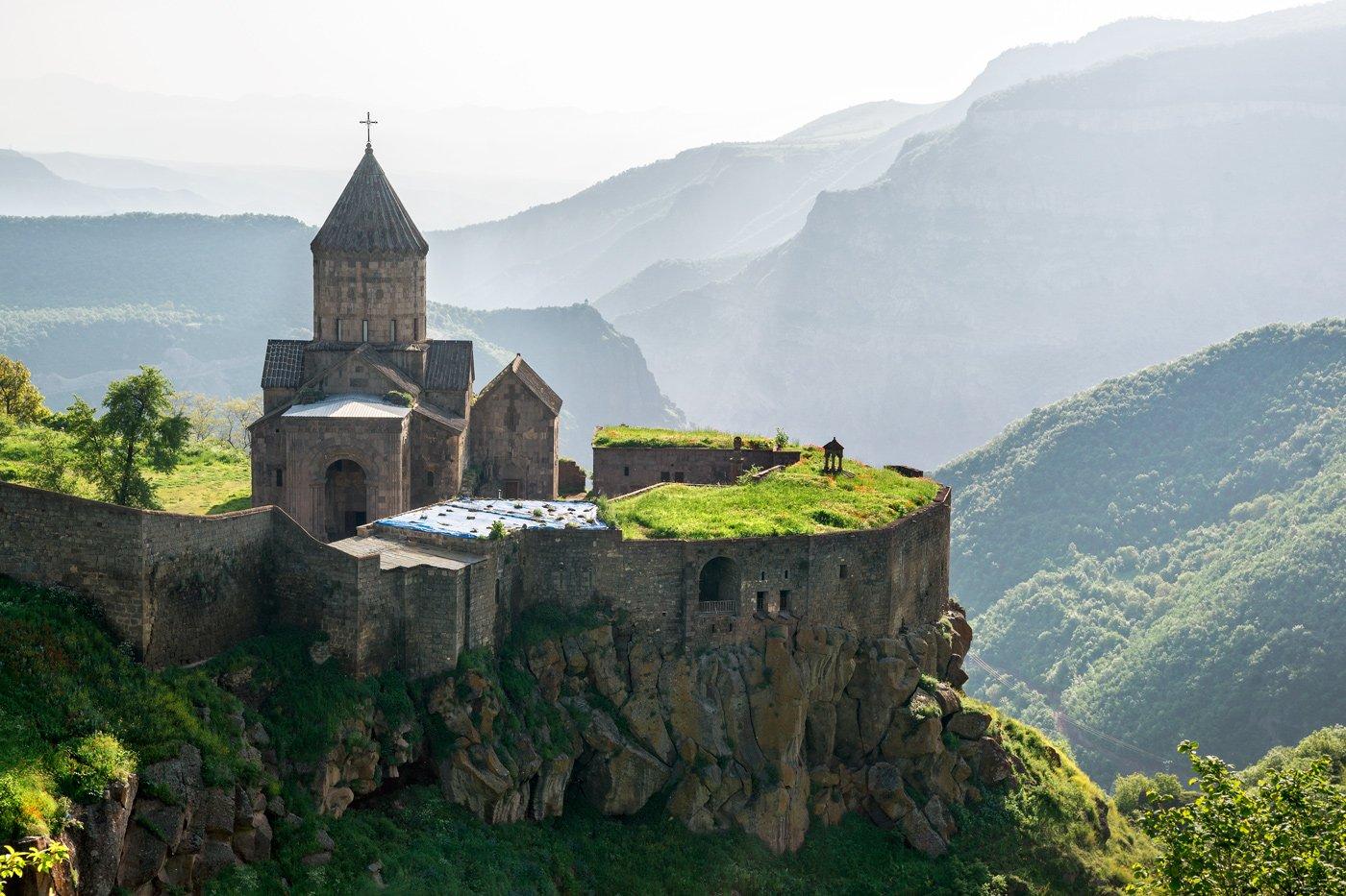 Армения, Монастырь, Рассвет, Татев, Утро, Михаил Туркеев