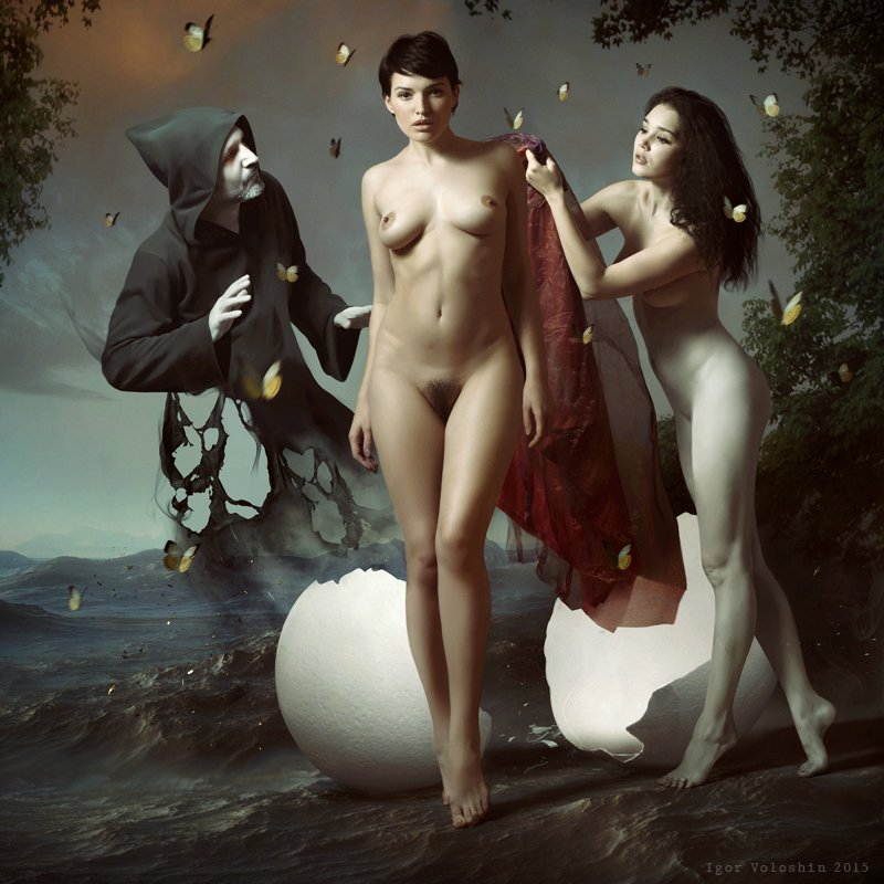 igor voloshin, voloshin, painting, surrealism, computer art, photography, art, woman, nude, Игорь Волошин
