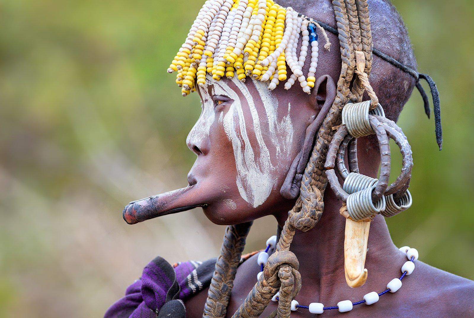 Мурси, племя, Эфиопия, долина Омо, Африка, Бирюков Юрий