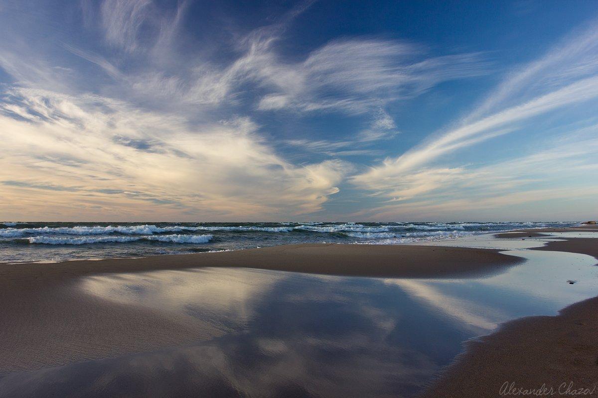 Балтийское море, Балтика, Море, Небо, Облака, Отражение, Пляж, Побережье, Чазов Александр