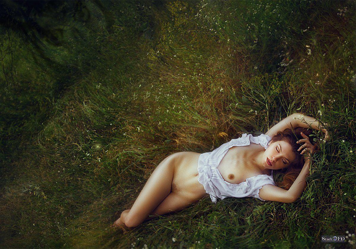 ню,эротика,обнаженная девушка,природа,полевые цветы,nude, Федорова Наталья