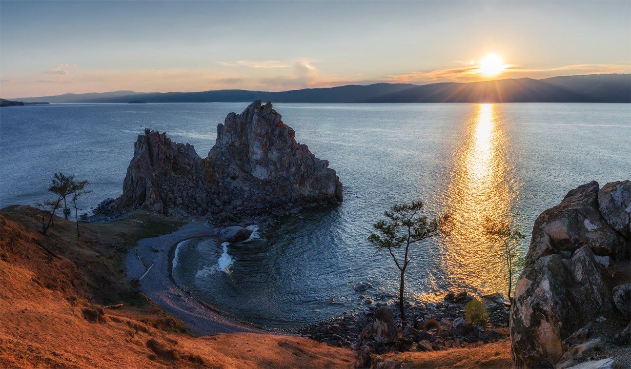 Байкал, Горы, Закат, Лето, Озеро, Ольхон, Пейзаж, Природа, Сибирь, Альберт Беляев