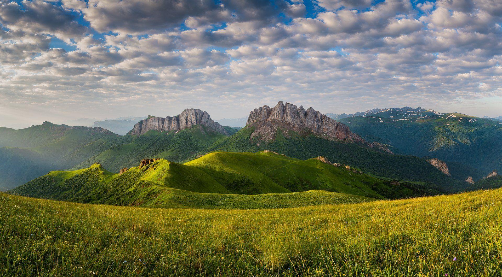 горы, Кавказ, Россия, Адыгея, Большой Тхач, Ачешбок, Дмитрий Монастырский