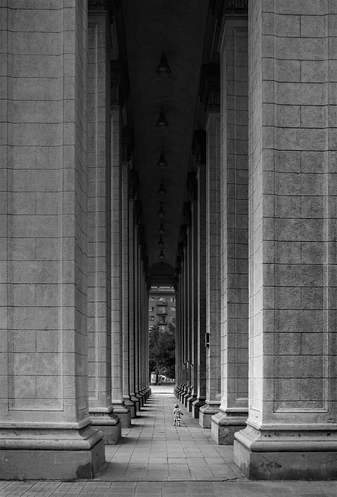 ребенок, колонны, масштаб, новосибирск, Asedach Alexander