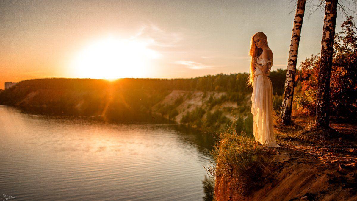 Mood, Portrait, Sunset, Закат, Настроение, Портрет, Георгий Чернядьев