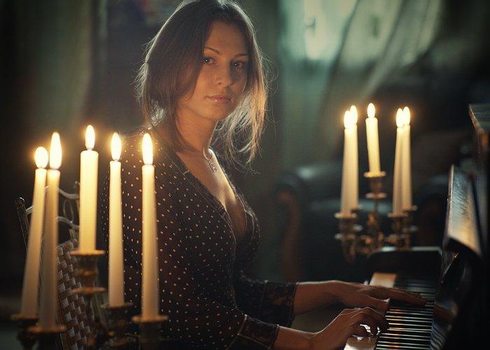 девушка, музыка, свечи, лирика, портрет, Ольга Брага (Eglantier)