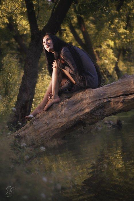 девушка, наяда, дерево, вода, природа, магия, чудеса, портрет, Ольга Брага (Eglantier)
