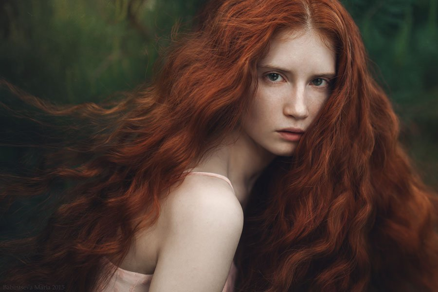 девушка, портрет , рыжая, Бабинцева Мария