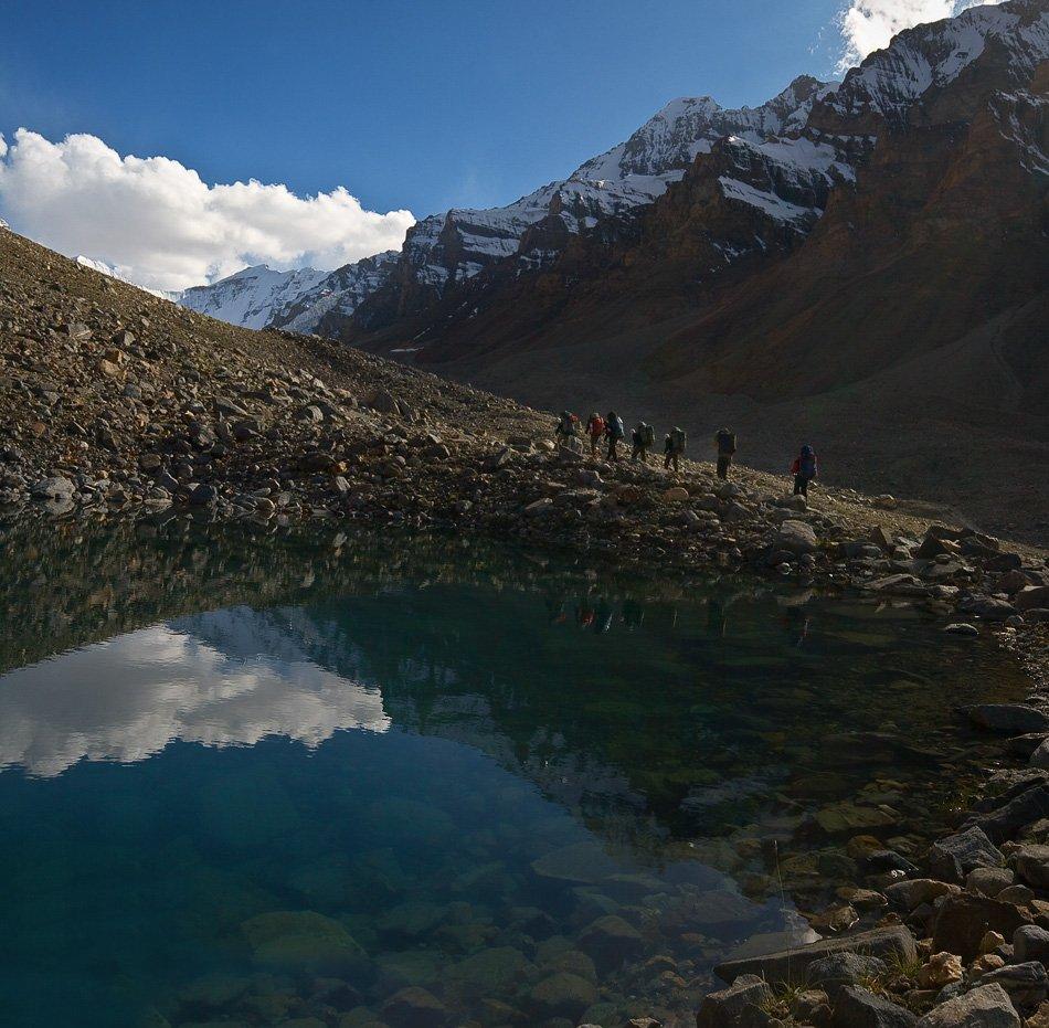 памир 2009, поход, путь к перевалу узбекистан, Андрей Chogori Громов