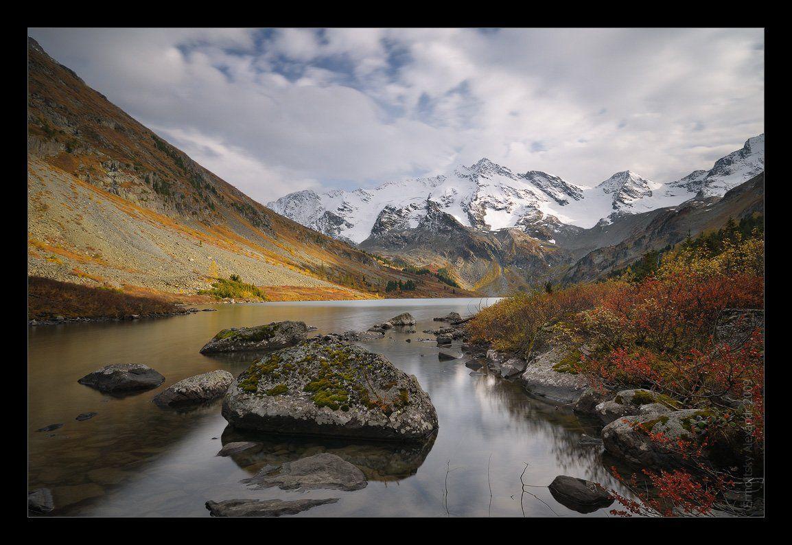 алтай, мульта, горы, озеро, поперечное, мультинское, камень, кусты, золотая осень, Ермолицкий Александр