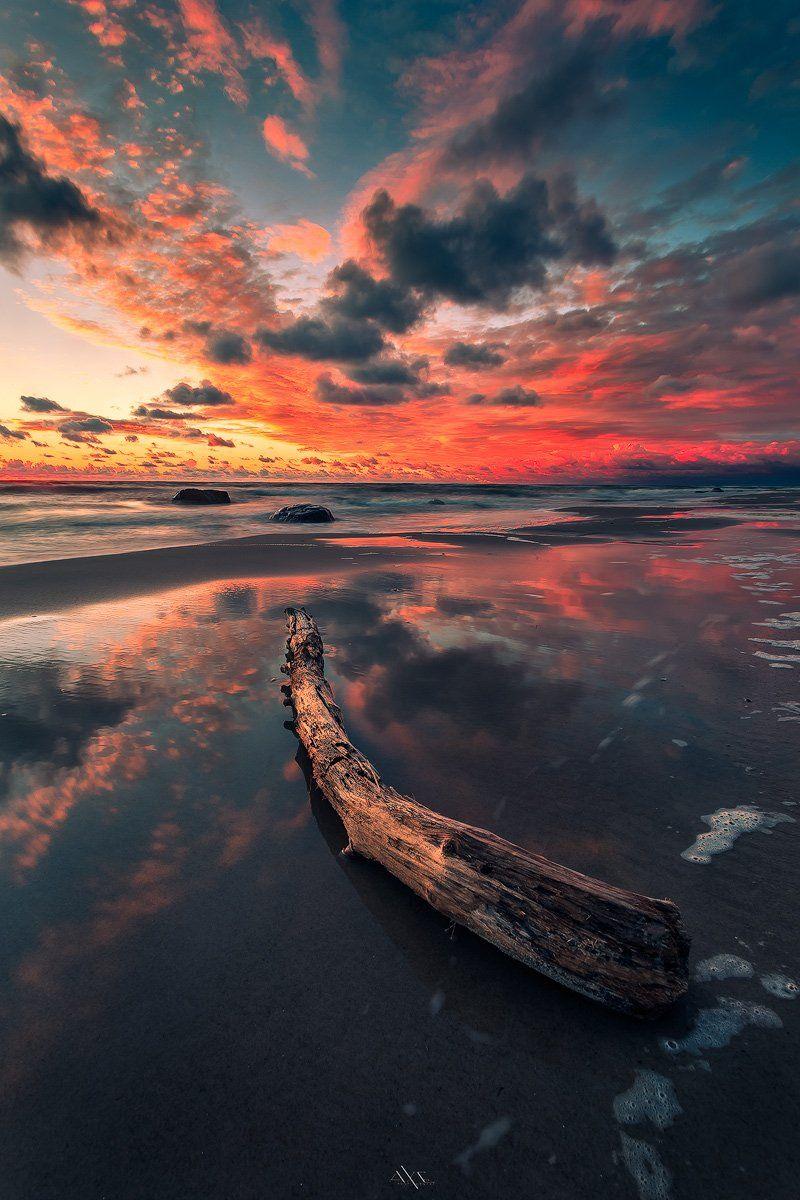 Baltic Sea, Colors, Evening, Landscape, Reflection, Sunset, Руслан Болгов (Axe)