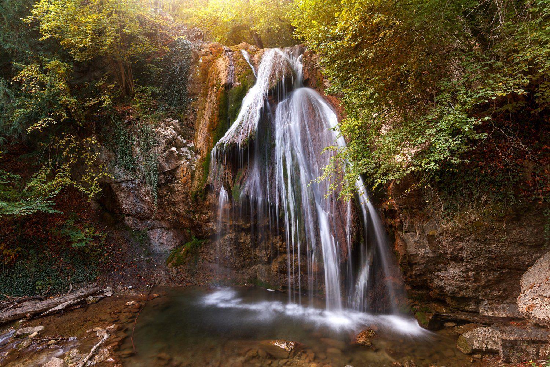 Водопад, Крым, Осень, Гордеев Эдуард